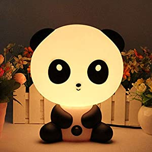 Portable Baby Kid Sleeping Bedroom LED Glow Nursery Night Light Cute Panda Desk Table Lamp Travel Essential (Panda)