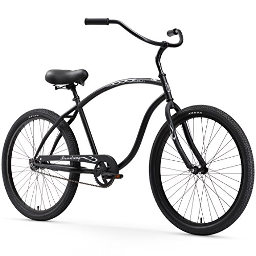 Firmstrong Chief Man Single Speed Beach Cruiser Bicycle, Matte Black, 21.5 inch / Large