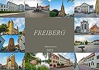 Freiberg Impressionen (Wandkalender 2022 DIN A2 quer): Zu Gast in der alten Bergbaustadt Freiberg (Monatskalender, 14 Seiten )
