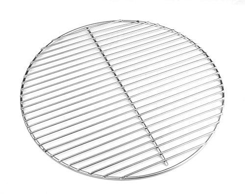 HeRo24 Grille de barbecue en acier inoxydable 44,5 cm 4/3 mm pour barbecue sphérique 45-46-47 cm convient également pour Weber 47