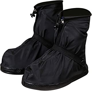 CapsA Waterproof Shoes Cover Rain Snow Women Men Boots Covers Rain Shoes Boots Covers Overshoes Galoshes Travel for Men Women Kids (Black, XXL)