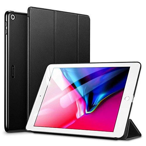 ESR Hülle Kompatibel mit iPad 6. Generation/5. Generation, iPad 2018 Hülle für Modell 9,7 Zoll - Ultra Dünnes Smart Hülle Cover mit Auto Schlaf-/Aufwachfunktion - Schwarz