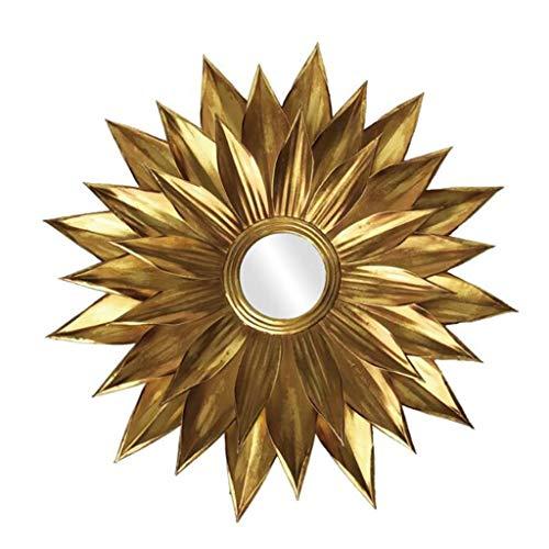 YZH Espejo de Cuerpo Entero Gafas de Sol de Hierro Forjado Europeos, Ronda Chimenea Espejo de la Sala Pórtico de Pared Decorativos Espejo colgado