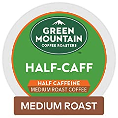 All the flavor, half the caffeine Medium roast, caffeinated coffee Certified Orthodox Union Kosher (U) Each K Cup pod is made with 100 percentage Arabica ground coffee and no artificial ingredients Ensure high quality coffee every time with pods spec...