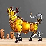 GJX Juego de Jarras y Vasos de Whisky Jarra del Vino del Estilo de Bull Licor - for el Whisky Bourbon Tequila Vodka Vino Scotch Animal Alta borosilicato Vidrio cristalino del decantador 1000ml