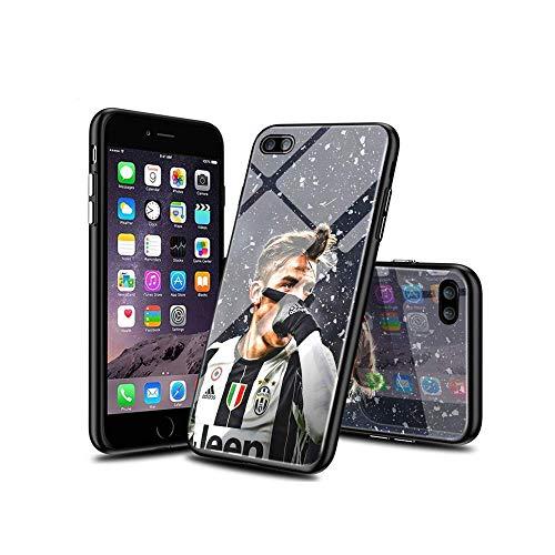 SviXXaYN iPhone 7 Funda y iPhone 8 Funda, Parte Trasera de Cristal Templado + Funda Protectora de TPU de Silicona Suave, Compatible con iPhone 7 / iPhone 8#003(A)
