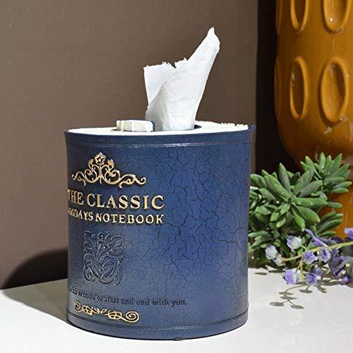 Arte retro clásico del sostenedor del tejido de la servilleta de la cubierta de caja, elegante Resina Libro antiguo titular en forma de rodillo del tejido dispensador de papel, papel decorativo tubo d