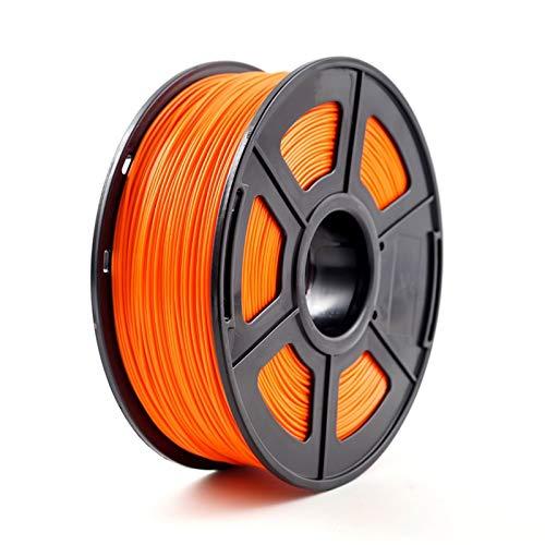 3D Printer Filament, ABS 1.75mm 1kg/2.2lb ABS Plastic Consumables Material for 3D Printer and 3D Pen ABS Filament (Color : Orange)