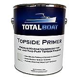 TotalBoat Marine Topside Boat Paint Primer for Fiberglass and Wood (White, Gallon)