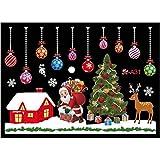 Rvest Adesivo Finestra Natale, Adesivo Finestra Statico Senza Colla Adesivo per Appendere Gli Ornamenti Colorati Natale delle Meraviglie Invernale per Le Decorazioni Domestiche