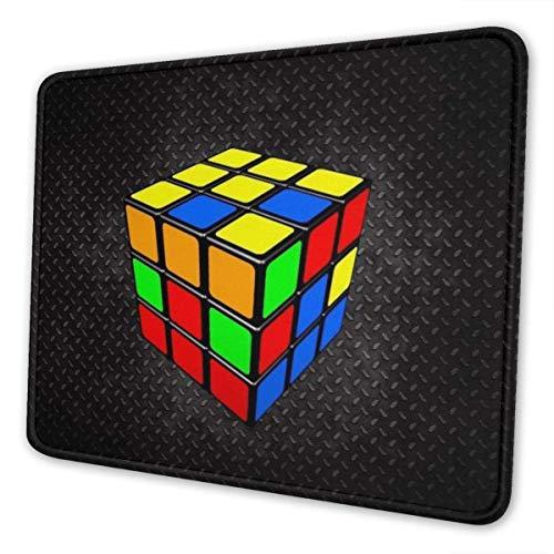 Alfombrilla de ratón para juegos   Alfombrilla de goma rectangular Cube Rubik   (3 mm de grosor) Alfombrilla de ratón para soporte de regalo Ratón inalámbrico con cable o Bluetooth, 8,3 x 10,3 pulgada