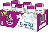 Whiskas Leche para Gatos a Partir de 6 semanas – Delicioso Aperitivo para un Gato Feliz – Sin lactosa y fácil de digerir – Pack de 6 Botellas de 200 ml