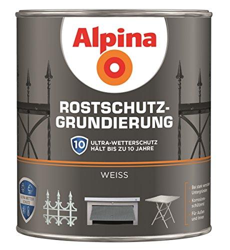Alpina Rostschutz Grundierung Weiss Innen & Außen 2 Liter