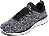 APL: Athletic Propulsion Labs Men's Techloom Phantom Running Sneakers, Black/White/Melange, 10...