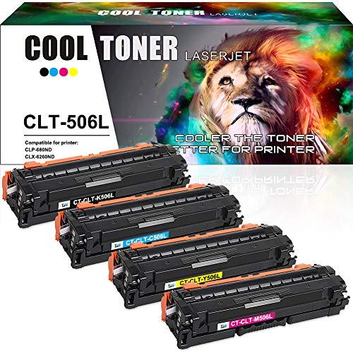 Cool Toner Kompatibel Tonerkartusche Replacement für Samsung CLT-K506L CLT-C506L CLT-Y506L CLT-M506L für Samsung CLP-680ND CLP 680ND, Samsung CLX-6260FR 6260FD 6260ND 6260FW
