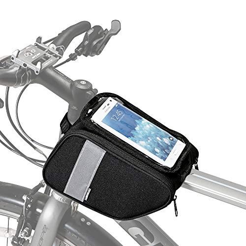 Hebey Bike Frame Bolsa Bolsas de Tubo Superior Bolsas Impermeables de Marco Frontal Paquetes con Pantalla táctil Funda de Ciclismo para teléfono por Debajo de 6.28 pulg