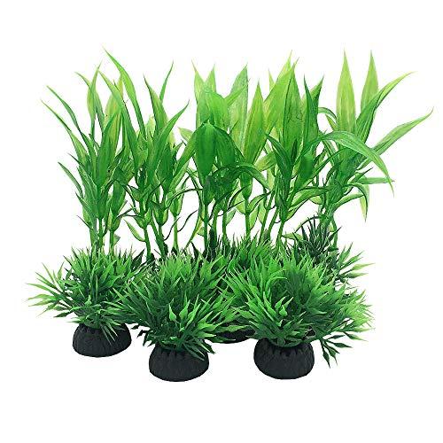 Lot de 10 plantes artificielles en plastique pour aquarium - Petite taille