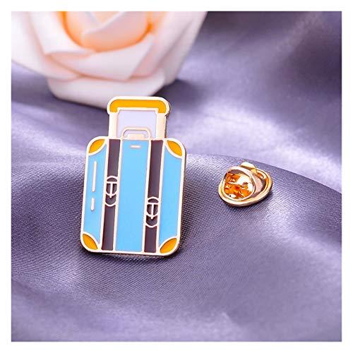 ZHEMAIE Broche Cartoon Aeroplano Tierra Maleta Compás Cámara de Coche Broche Chaqueta Pin Cardigan Accesorios Coreano Simple Fashion Wild Coat (Metal Color : Style 8)