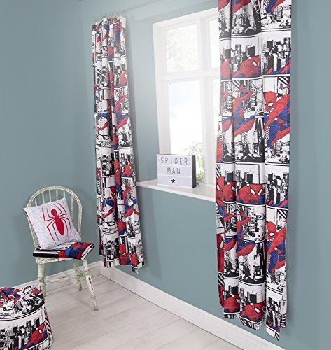 Disney Spiderman Metropolis Vorhänge für Kinderzimmer, 137,2 cm, perfekt für jedes Jungen-Schlafzimmer