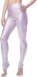 Designs Pink Mermaid Legging Womens Active Workout High Waisted Yoga Leggings