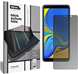 dipos I Blickschutzfolie matt kompatibel mit Samsung Galaxy A7 (2018) Sichtschutz-Folie Bildschirm-Schutzfolie Privacy-Filter