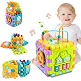 nicknack Activity Cube Baby Toys, 6 in 1 Multi-Purpose Learning Cube with...