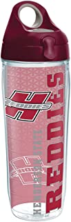 Tervis Henderson State Reddies College Pride Tumbler with Wrap and Maroon Lid 24oz Water Bottle, Clear
