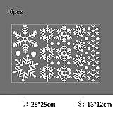 DXAQC Christmas Window Decoration, Snowflake Window Clings Snow Flakes PVC Stickers for Christmas Window Display (A,16pcs)
