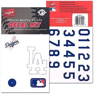 Rawlings Baseball/Softball Batting Helmet MLB Decal Kit (Includes Official Team Logos Stickers, Major League Logo & Numbers).