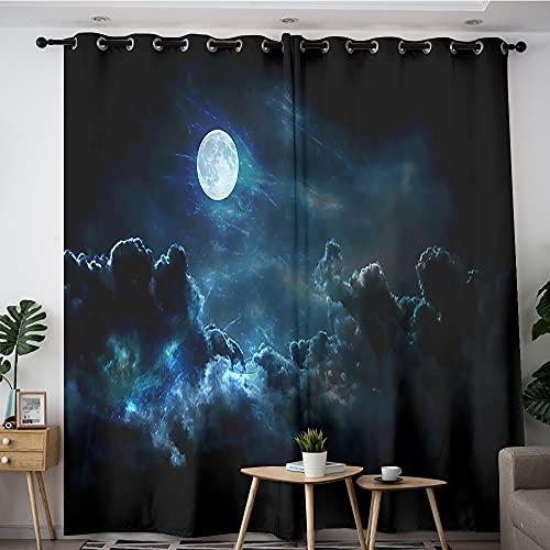 Cortinas decorativas My Little Pony Princesa Luna Luna Noche Cielo Elegante Cortinas para Dormitorio Niño 84x54 pulgadas