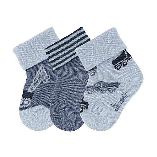 Sterntaler Baby-Jungen Söckchen 3er-Pack Fahrz. Socken, Himmel, 16