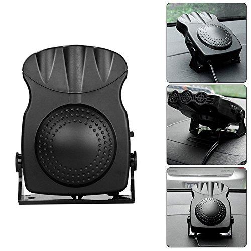 molie Chauffage Voiture 12V avec Ventilateur Réchauffeur de Voiture 150W Dégivreurs Pare-Brise