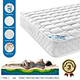 HomyLink Single Double Mattress Pocket Sprung Memory Foam Mattresses 22CM Height 3FT 4FT6
