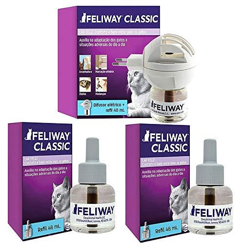Combo Feliway Classic 1un Difusor Com Refil + 2un Refil 48ml