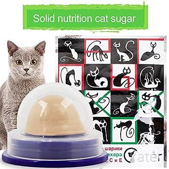 GUANLIAN Friandises pour Chats Sugar Ball Healthy Nutrition Collations pour Chats pour Animaux de Compagnie Bonbons nutritifs pour Chats Fixes T Goût de Cataire (Paquet de 10)