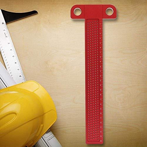 T-Quadrat Lineal, Holzbearbeitung Aluminiumlegierung Anreißwerkzeug Gekreuztes Lineal Messen Zimmerei Markierungswerkzeug (2 Optional) (Größe : T-260)