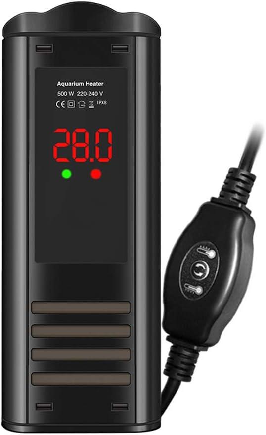 RXBFD Calentador de termostato de Acuario, Calentador de Tanque de Peces Sumergible Plano con termostato Ajustable, con Pantalla LED Inteligente de Temperatura y a Prueba de explosiones