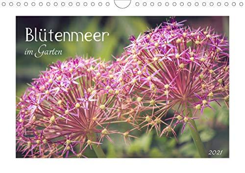 Blütenmeer im Garten 2021 (Wandkalender 2021 DIN A4 quer)