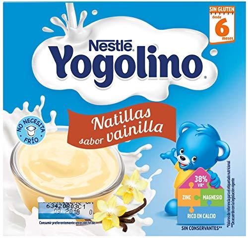 Nestlé Yogolino Natillas de Vainilla - Paquete de natillas de 6 x 4 unidades de 100g (Total: 2.4...