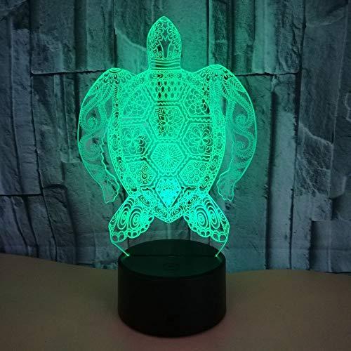 LCSD Lámpara de Mesa Turtle LED Colorido Gradiente 3D Estéreo Lámpara De Mesa Táctil Control Remoto USB Luz De Noche Escritorio Mesita De Noche Creativos Decorativos Adornos De Regalo