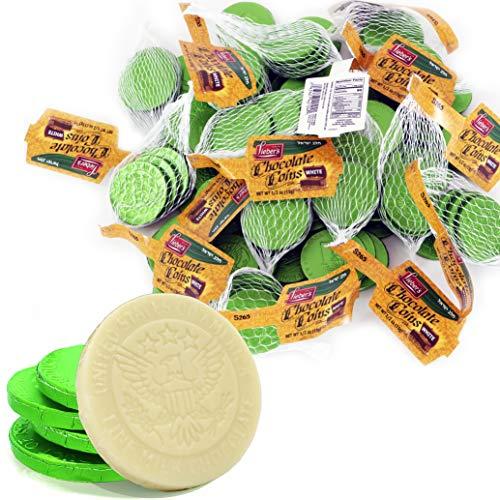 White Chocolate Hanukkah Coins Hanukkah, Dairy Chocolate Cholov Yisroel Made In Israel 12 Bags