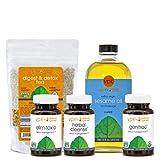 Gentle Detox Set (Elim-Tox-O, Herbal Cleanse, Organic Genitrac, Organic Digest & Detox Tea, Organic Sesame Oil)