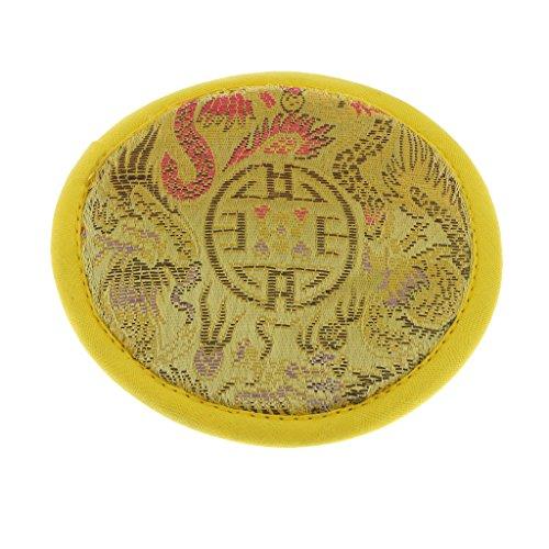 Redondo Almohada Cojín de Cuenco Cantante Canto Tibetano De Tela Budismo Dharma Diámetro 10cm