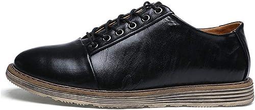 LYZGF La Jeunesse des Hommes Quatre Saisons Décontracté Plat des Chaussures De Dentelle De Mode