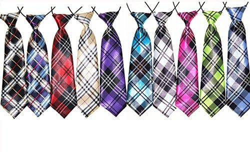 Yagopet Große Krawatten für Hunde, kariert, groß, 56 cm, Fliege für den Urlaub, Festival, Hundehalsband, Hundepflege-Zubehör