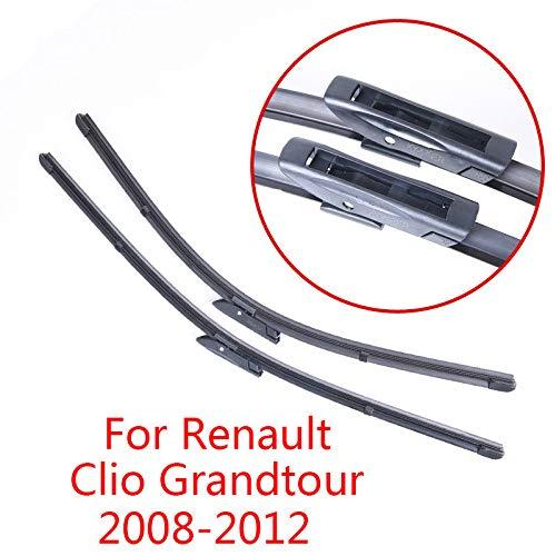 JNSMQC Auto onderdelen zachte rubber auto ruitenwisser Voor Renault Clio Grandtour2008 2009 2010 2011 2012
