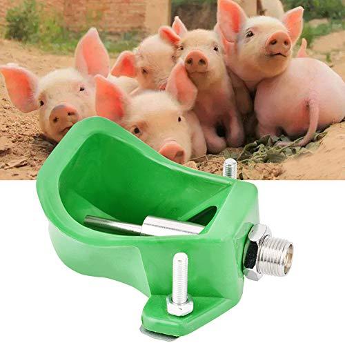 Cuencos de agua para cerdos, alimentador automático de agua para ganado ovino, dispensador de agua para animales con tetina de acero inoxidable para alimentación de agua potable de granja de animales