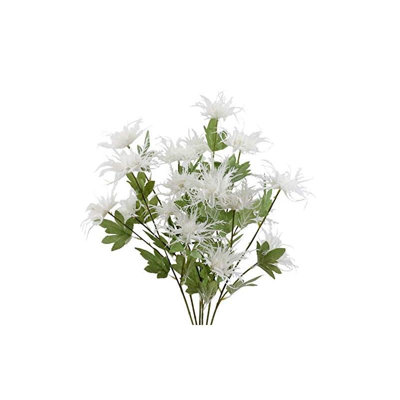 silk flower arrangements minyulua artificial thistle spray eryngium faux plants 6 stems faux thistles bunch simulation flowers for wedding bouquet centerpiece home decor
