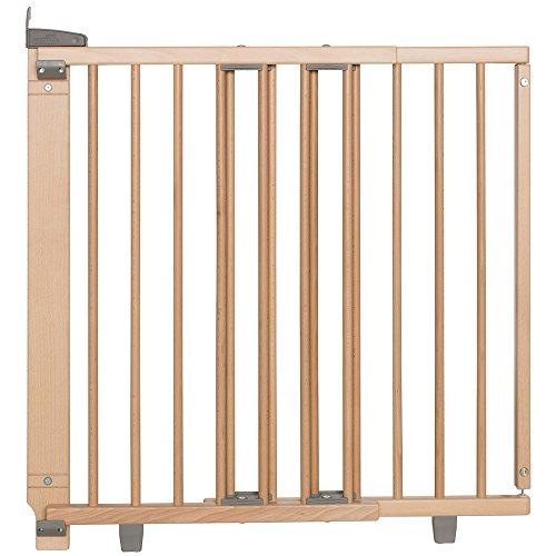 Geuther - Treppenschutzgitter ausziehbar 2735+, für Kinder/Hunde, Schrauben/Klemmen am Geländer, verstellbar, Holz, 95 - 135 cm, TÜV geprüft