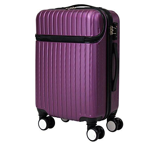 フロントポケット 付き スーツケース 881【紫】 / ZH881-PR / ###ケースZH881紫###